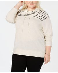 Style & Co. - Plus Size Hooded Sweatshirt, Created For Macy's - Lyst