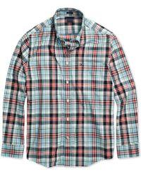 91f4fb7c Tommy Hilfiger Men's Esmond Striped Shirt in Blue for Men - Lyst