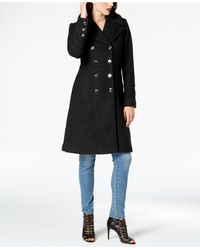 Guess Double-breasted Walker Coat - Black