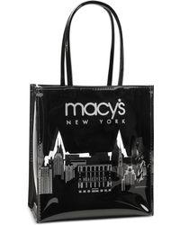 Macy's Glitter Lunch Bag - Black