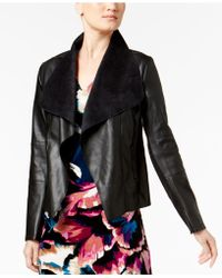 Olivia & Grace - Draped Faux-suede Jacket - Lyst