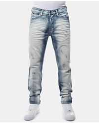 Sean John Athlete Relaxed Tapered-fit Stretch Jeans, Created For Macy's - Blue