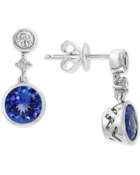 Effy Collection - Effy® Tanzanite (1-1/2 Ct. T.w.) & Diamond (1/2 Ct.t.w.) Drop Earrings In 14k White Gold - Lyst