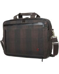 Token Waxed Briefcase - Black