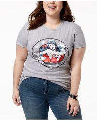 Hybrid Plus Size Wonder Woman T-shirt - Gray