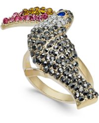 INC International Concepts - I.n.c. Gold-tone Crystal Pavé Tucan Statement Ring, Created For Macy's - Lyst