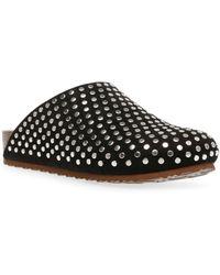 Steve Madden Vesa-s Studded Scuff Slippers - Black