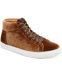 Kenneth Cole Reaction - Men's Road High-top Velvet Trainers - Lyst