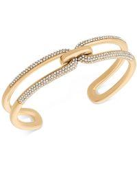 Michael Kors | Black Ion-plated Pavé Link Cuff Bracelet | Lyst