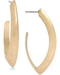 Robert Lee Morris - Gold Plated Oval Open Hoop Earrings - Lyst