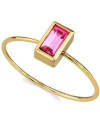 2028 - 14k Gold Dipped Rectangle Crystal Ring - Lyst
