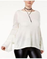 Almost Famous - Trendy Plus Size Tiered Bell-sleeve Sweater - Lyst