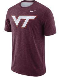 Nike - Virginia Tech Hokies Dri-fit Cotton Slub T-shirt - Lyst