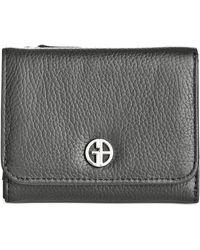 Giani Bernini Softy Leather Mini Trifold Wallet - Black