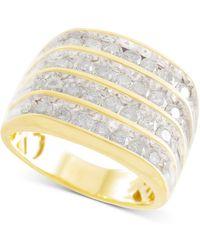 Macy's - Men's Diamond Multi-row Ring (2 Ct. T.w.) In 10k Gold - Lyst