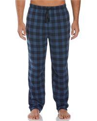 Perry Ellis Portfolio Buffalo Check Flannel Pajama Pants - Blue