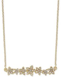 """INC International Concepts - I.n.c. International Concepts Crystal Cluster Flower Horizontal Bar Pendant Necklace, 16"""" + 3"""" Extender, Created For Macy's - Lyst"""