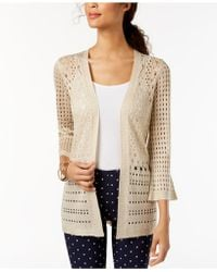 Charter Club - Petite Open-stitch Cardigan, Created For Macy's - Lyst