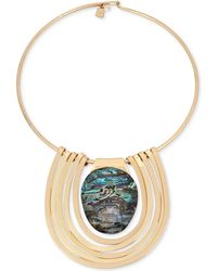 Robert Lee Morris - Gold-tone Abalone Stone Statement Necklace - Lyst