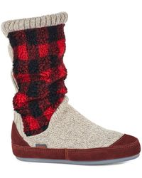 Acorn Slouch Boot Slippers - Multicolor