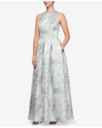 Alex Evenings - Metallic Jacquard A-line Gown - Lyst