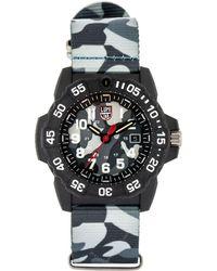 Luminox 3507.ph Navy Seal Carbon Camo Nylon Strap Watch - Multicolor