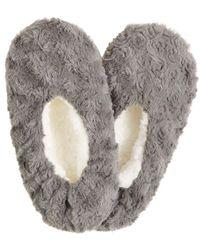 Charter Club Faux-fur Slipper Socks, Created For Macy's - Gray