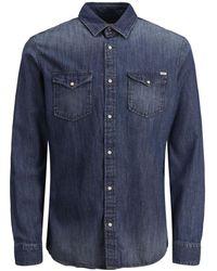 Jack & Jones - Sheridan Push Button Denim Shirt - Lyst