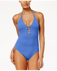 La Blanca - Strappy Plunge One-piece Swimsuit - Lyst