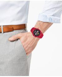 Ferrari Aspire Red Silicone Strap Watch 44mm