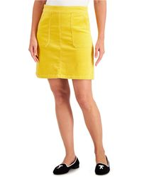 Charter Club Corduroy A-line Skirt, Created For Macy's - Yellow