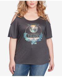 Jessica Simpson - Trendy Plus Size Cold-shoulder Printed T-shirt - Lyst
