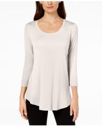 Macy's Jm Collection Scoop-neck Top, Created For - Multicolor