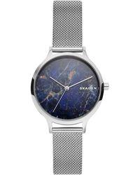 Skagen - Anita Stainless Steel Mesh Bracelet Watch 34mm - Lyst