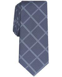 Alfani Classic Grid Tie, Created For Macy's - Blue