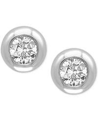 Effy Collection - Diamond Bezel Stud Earrings (3/8 Ct. T.w.) - Lyst