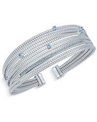Macy's - Swiss Blue Topaz Cuff Bracelet (1/2 Ct. T.w.) In Sterling Silver - Lyst