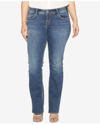 Silver Jeans Co. - Plus Size Elyse Stretch Slim-fit Boot-cut Jeans - Lyst