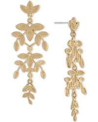 RACHEL Rachel Roy - Gold-tone Leaf Chandelier Earrings - Lyst