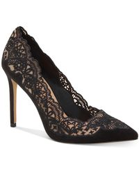 INC International Concepts Inc Kyomi Lace Pump, Created For Macy's - Black