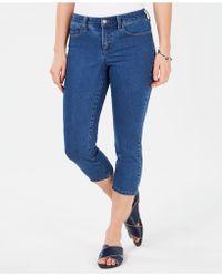 Charter Club Tummy-control Bristol Capri Jeans, Created For Macy's - Blue