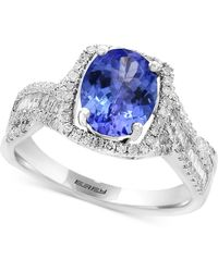 Effy Collection - Tanzanite (1-3/4 Ct. T.w.) & Diamond (3/8 Ct. T.w.) Ring In 14k White Gold - Lyst