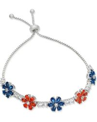 Joan Boyce - Clear & Colored Crystal Flower Slider Bracelet - Lyst