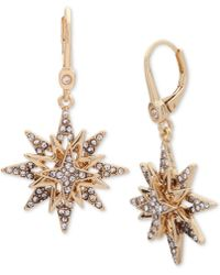 Ivanka Trump | Gold-tone Layered Crystal Star Drop Earrings | Lyst