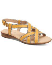 Charter Club Kyyla Sandals, Created For Macys - Yellow