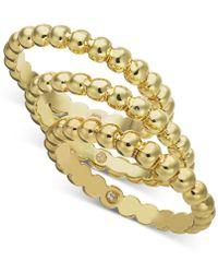 Alfani Multi-tone 3-pc. Set Bubble-style Stacking Rings, Created For Macy's - Metallic