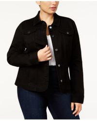 Charter Club - Plus Size Denim Jacket, Nantucket Wash - Lyst