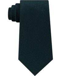 Michael Kors Men's Pindot Ground Diamond Silk Tie - Blue