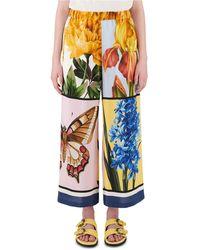 Weekend by Maxmara - Printed Silk Pants - Lyst