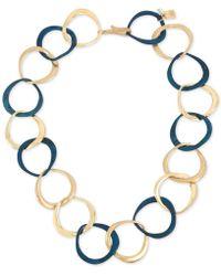 """Robert Lee Morris - Gold-tone & Patina Link 18"""" Collar Necklace - Lyst"""